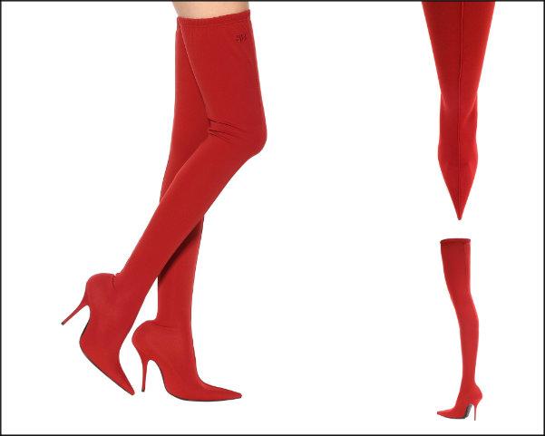 balenciaga, balenciaga knife, red boots, botas rojas, shopping, trend