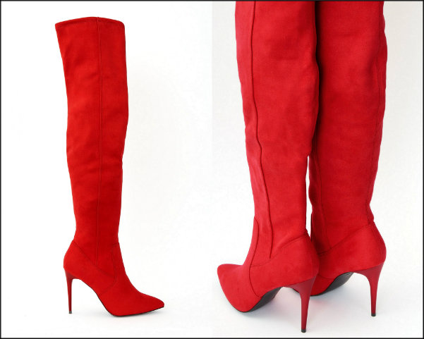 new look, red boots, botas rojas, shopping, trend