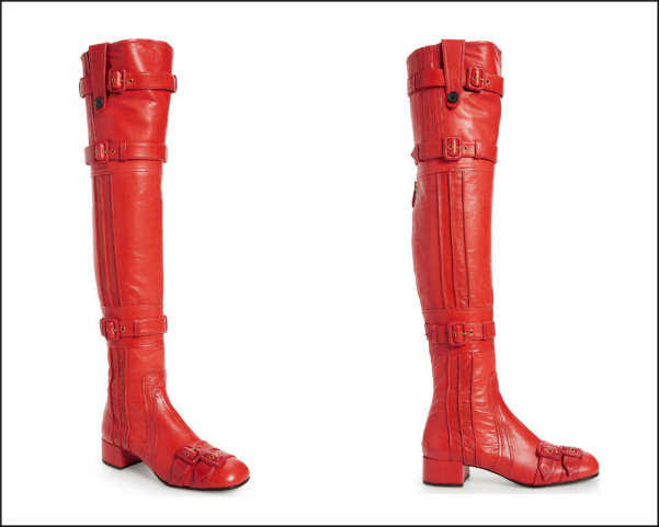 prada, red boots, botas rojas, shopping, trend