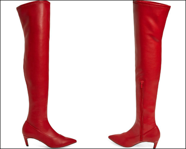 topshop, red boots, botas rojas, shopping, trend