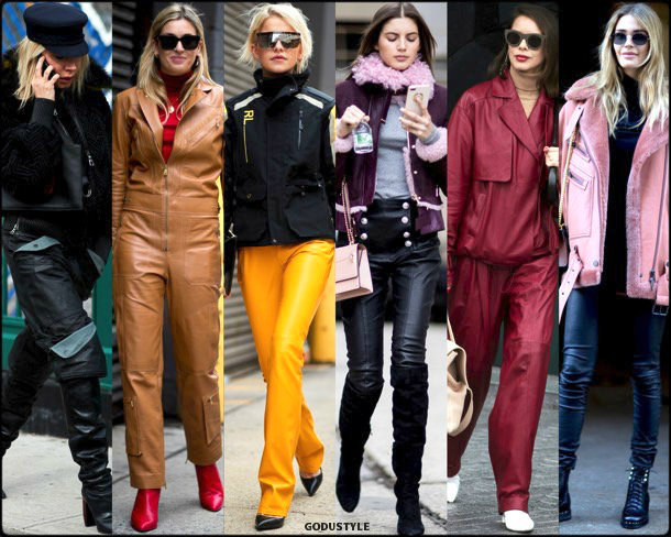 street style, trends, nyfw, fall 2018, leather, looks, otoño 2018, cuero, tendencias, invierno 2019, fashion