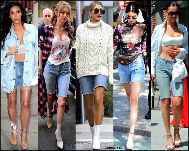 bike shorts, spring 2018, trends, denim, pantalon ciclista, tendencias, verano 2018, looks, streetstyle