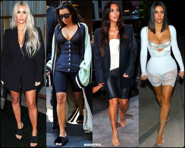 bike shorts, kim kardashian, spring 2018, trends, pantalon ciclista, tendencias, verano 2018, looks, style
