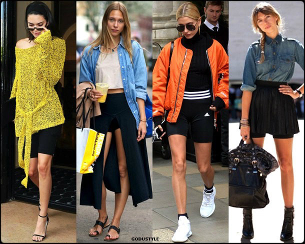bike shorts, spring 2018, trends, pantalon ciclista, tendencias, verano 2018, looks, streetstyle