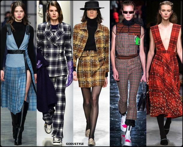 check print, cuadros, fall 2018, invierno 2019, trend, tendencia, mfw, looks, runway, style, details, milan fashion week