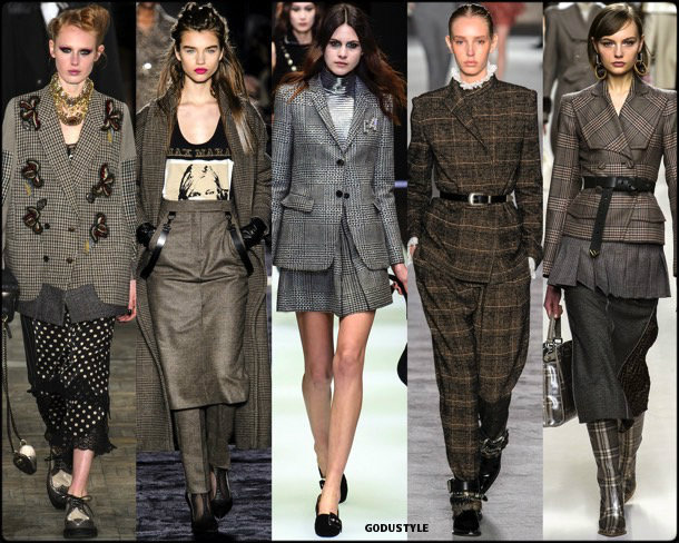 check print, cuadros, fall 2018, invierno 2019, trend, tendencia, mfw, looks, runway, style, details, milan fashion week