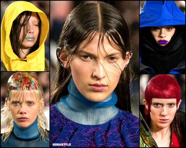 beauty, looks, maison margiela, fall 2018, trends, pfw, belleza, invierno 2019, tendencias, looks, style