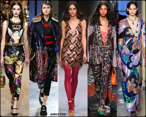 sequin, lentejuelas, fall 2018, invierno 2019, trend, tendencia, mfw, looks, runway, style, details