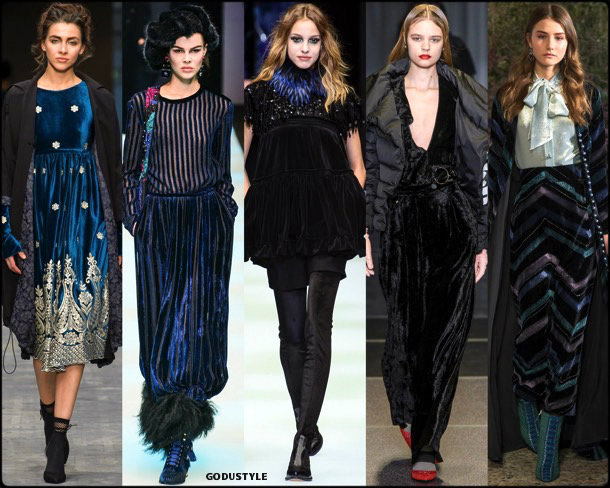velvet, terciopelo, fall 2018, invierno 2019, trend, tendencia, mfw, looks, runway, style, details, milan fashion week