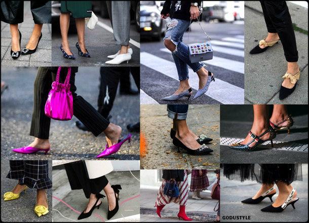 kitten heels, slingback, spring 2018, trend, zapatos, tendencia, verano 2018, looks, streetstyle, shopping