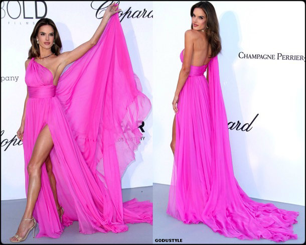 alessandra ambrosio, fashion, looks, amfar, cannes 2018, style, party dresses, details, red carpets, celebrities, outfits