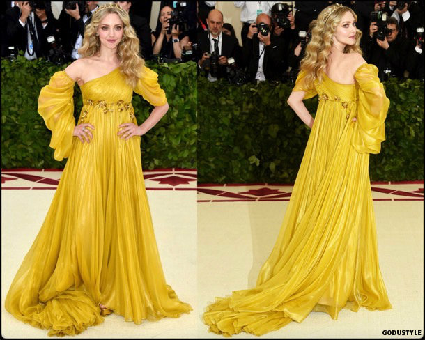 amanda seyfried, met 2018, gala, fashion, celebrity, look, style, details, celebrities, outfits, red carpet