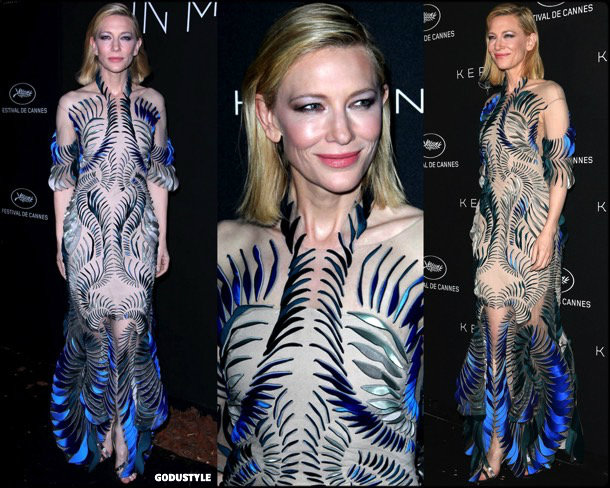 cate blanchett, fashion, looks, cannes 2018, style, iris van herpen, details, red carpets, celebrities, outfits