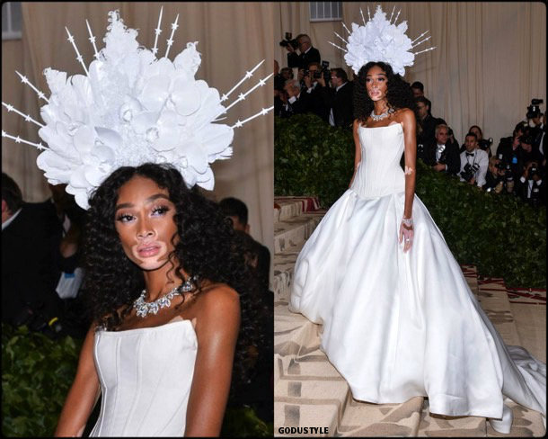 winnie harlow, met 2018, gala, fashion, celebrity, look, style, details, celebrities, outfits, red carpet