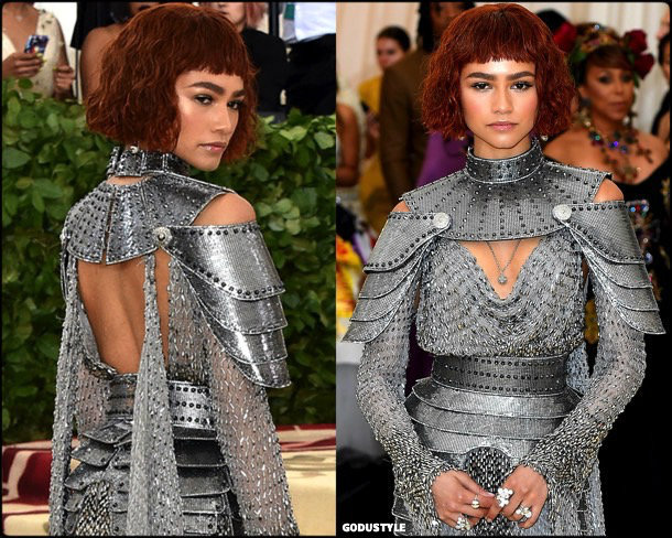 zendaya, met 2018, gala, fashion, celebrity, look, style, details, celebrities, outfits, red carpet