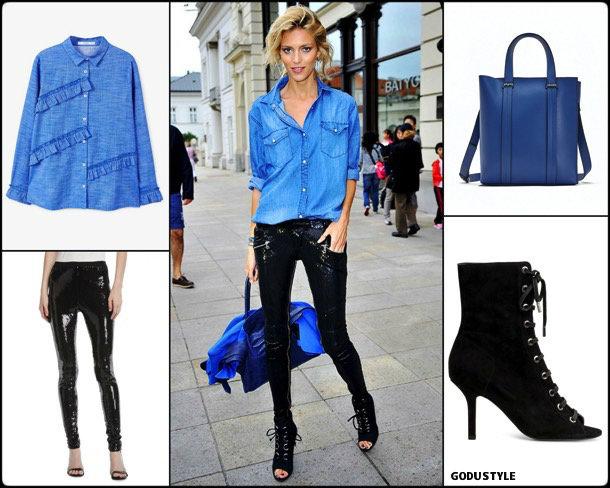 anja rubik, sequin, lentejuelas, look, street style, fashion, trend, details, style, shopping, outfits, tendencias