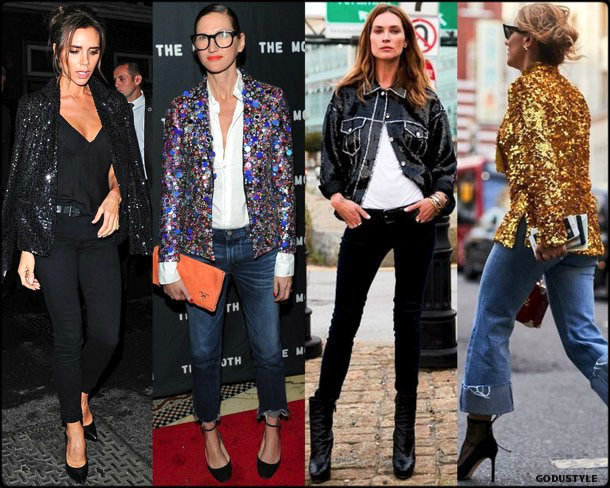 victoria beckham, sequin, lentejuelas, look, street style, fashion, trend, details, style, shopping, outfits, tendencias