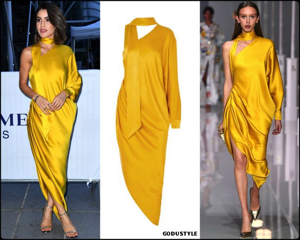 camila coehlo, yellow, ralph russo, dress, amarillo, vestido, looks, street style, fall 2018, trend, details, shopping