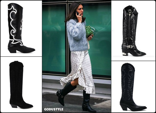 cowboy, boots, botas, vaqueras, looks, street style, fall 2018, fashion, trend, details, style, shopping, tendencias