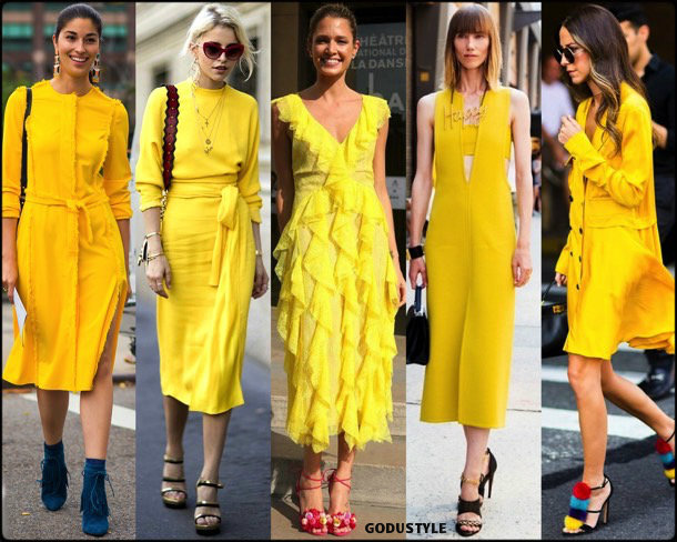 caroline daur, helena bordon, yellow, amarillo, dress, looks, street style, fall 2018, trend, details, shopping, tendencias