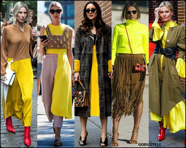 eleonora carisi, thassia naves, yellow, amarillo, looks, street style, fall 2018, trend, details, shopping, tendencias