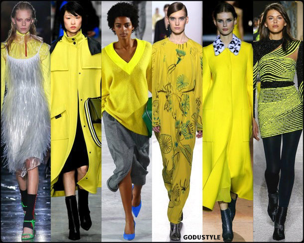 yellow, amarillo, runways, looks, fashion weeks, street style, fall 2018, trend, details, shopping, tendencias
