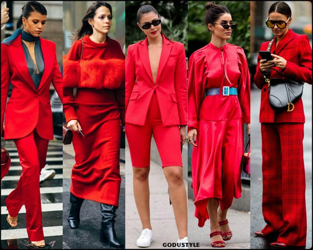 red, rojo, trends, fall 2018, street style, nyfw, spring 2019, looks, style, details, otoño 2019, moda, must-haves