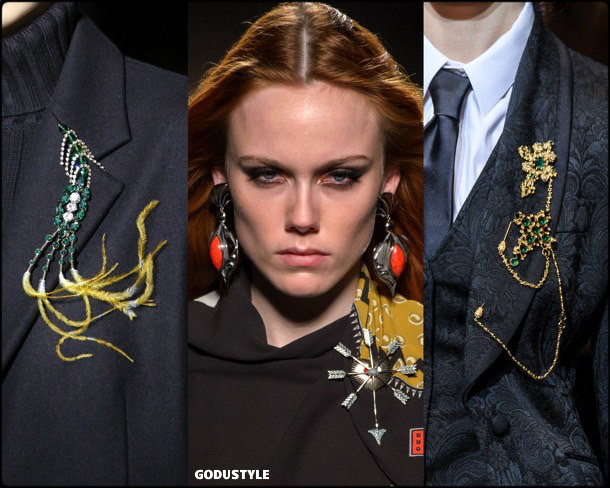 brooches, broches, jewelry, joyas, fall 2018, winter 2019, otoño 2018, invierno 2019, trends, tendencias
