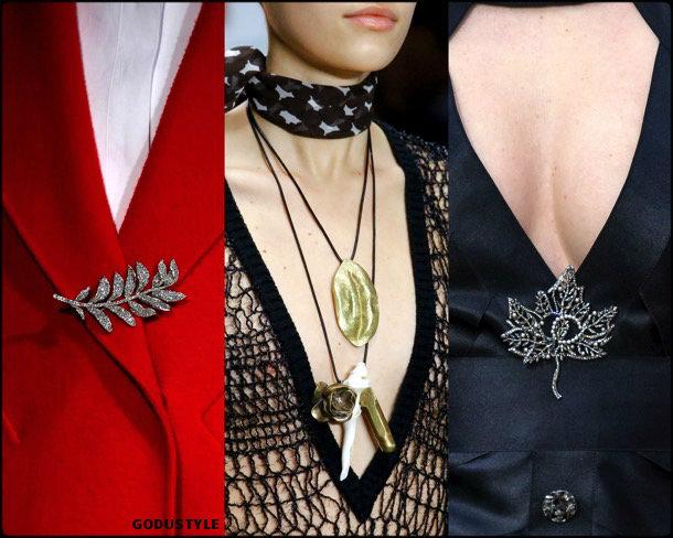 brooches, broches, hojas, jewelry, fall 2018, winter 2019, joyas, otoño 2018, invierno 2019, trends, tendencias