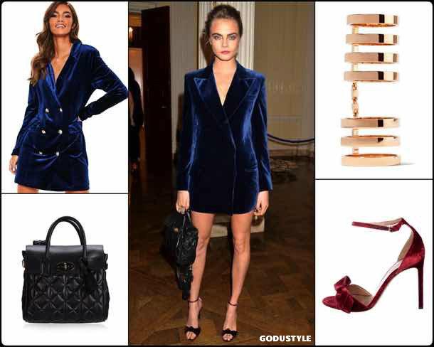 cara delevingne, vestido tuxedo, trend, tendencia, vestido fiesta, party dress, shopping, look, style