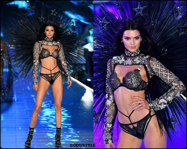 kendall jenner, victorias secret, 2018, fashion show, desfile, victorias secret 2018, models, look, style, details