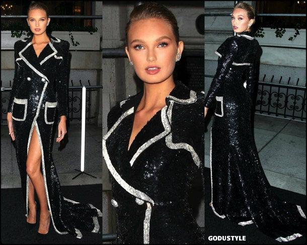 romee strijd, tuxedo dress, vestido tuxedo, trend, tendencia, vestido fiesta, party dress, shopping, look, style