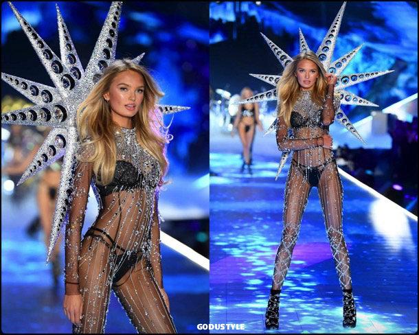 romee strijd, victorias secret, 2018, fashion show, desfile, victorias secret 2018, models, look, style, details