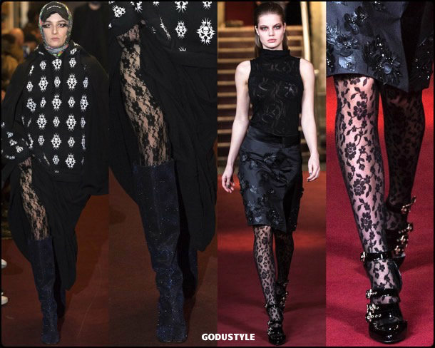 tights, lace, medias, encaje, lace tights, fall 2018, invierno 2019, looks, tendencias, trends, style, shopping