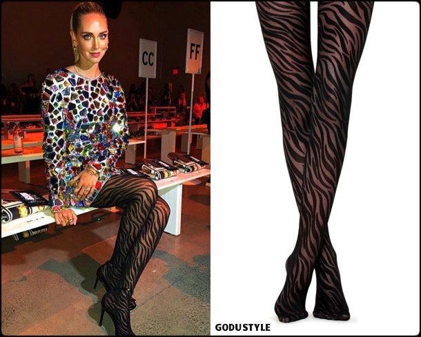 chiara ferragni, tights, medias, animal print, fall 2018, invierno 2019, looks, tendencias, trends, style, shopping