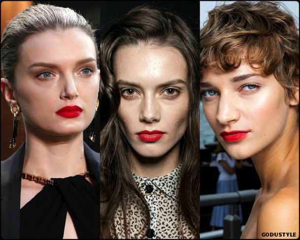 red lips, beauty, belleza, beauty look, makeup, party, look, spring 2018, trends, verano 2018, tendencias