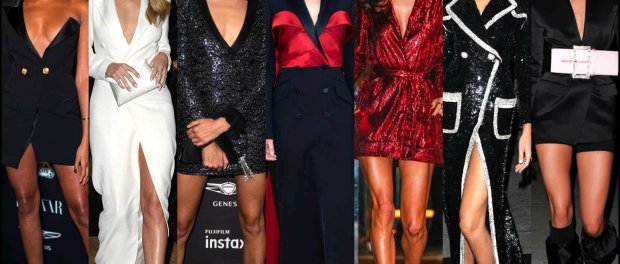 celebrities, vestido tuxedo, tuxedo dress, trend, tendencia, vestido fiesta, party dress, shopping, look