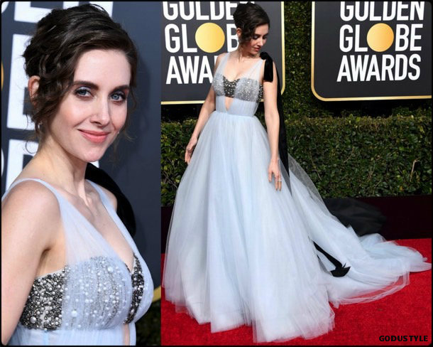 alison brie, golden globes, party, looks 2019, red carpets, looks, style, details, fashion, globos oro