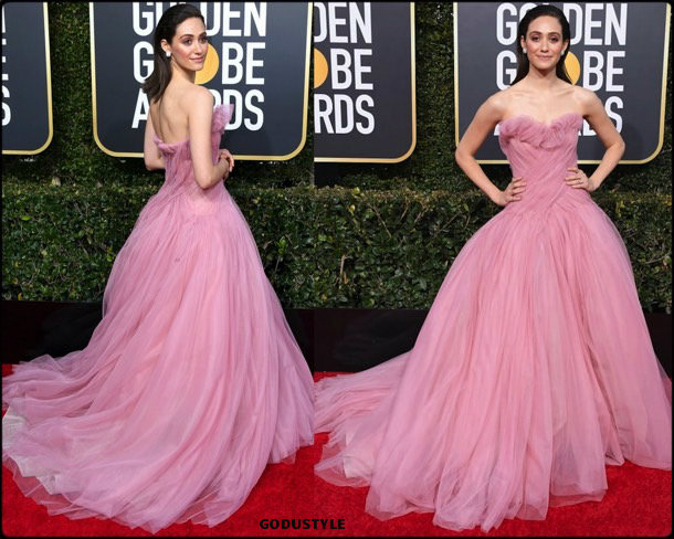 emmy rossum, golden globes, party, looks 2019, red carpets, looks, style, details, fashion, globos oro