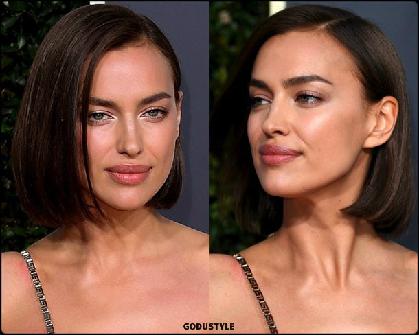 irina shayk, golden globes, party looks 2019, red carpets, beauty look, style, details, fashion