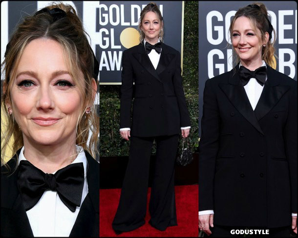 judy greer, golden globes, party, looks 2019, red carpets, looks, style, details, fashion, globos oro