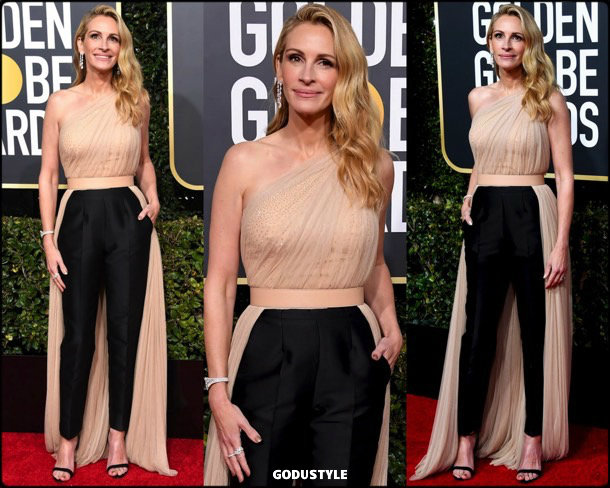 julia roberts, golden globes, party, looks 2019, red carpets, looks, style, details, fashion, globos oro