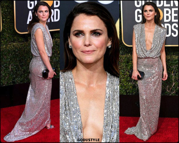 keri russell, golden globes, party, looks 2019, red carpets, looks, style, details, fashion, globos oro