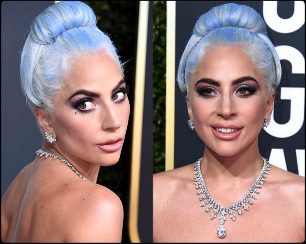 lady gaga, golden globes, party looks 2019, red carpets, beauty look, style, details, fashion