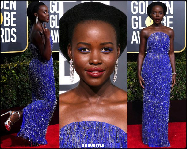 lupita nyongo, golden globes, party, looks 2019, red carpets, looks, style, details, fashion, globos oro