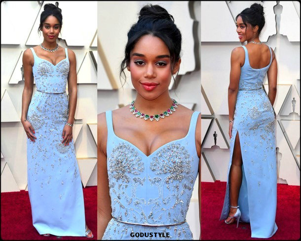 laura-harrier-oscars-2019-red-carpet-best-dressed-look-style-details-godustyle