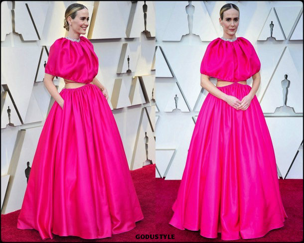 sarah paulson, oscar 2019, red carpet, best, fashion, look, beauty, style, details, celebrities, review, alfombra roja