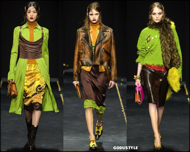 versace, fall 2019, invierno 2020, collection, mfw, look, style, details, shoes, accessories, beauty, review