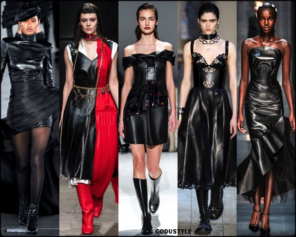 leather, cuero, fall 2019, fashion, trends, tendencias, moda, otoño 2019, invierno 2020, look, style, details, fashion weeks