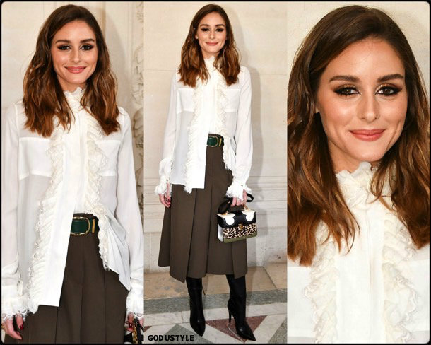 olivia palermo, elie saab, fashion, look, fall 2019, pfw, style, details, street style, outfit, front row